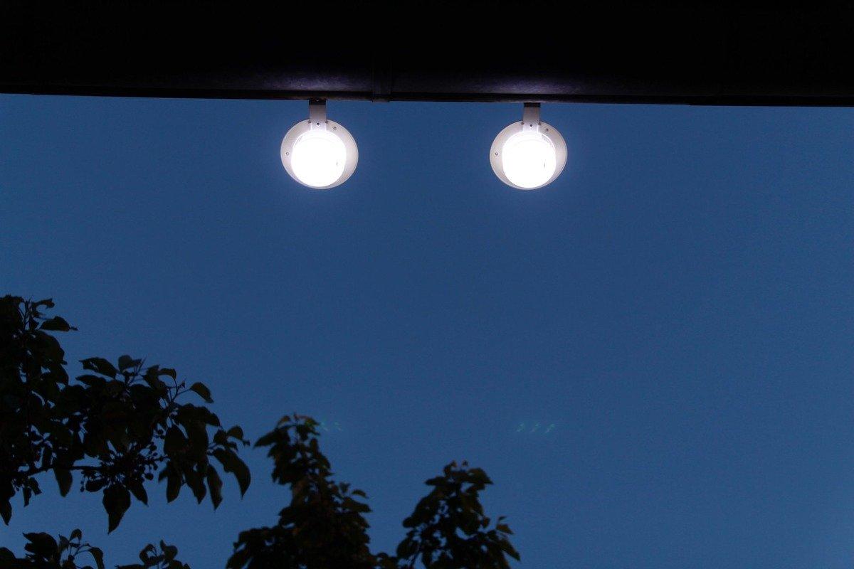 2 Lampy Solarne Kinkiet Na Balkon Ogród Poręcz