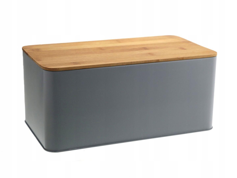 Chlebak Pojemnik Na Pieczywo Chleb Z Deską Bambus