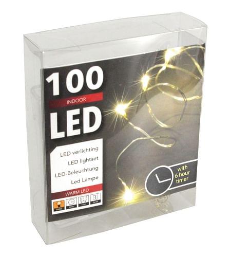 Lampki Led Na Baterie Długość 10m Timer 100szt