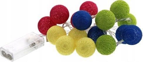 Cotton Balls Kule Led świecące Lampki Girlanda